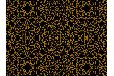 Pattern Gold Ornament Arrange Lines and Arches