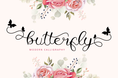 Butterfly - Modern Calligraphy