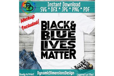 Black Lives Matter SVG, Blue Lives Matter, Peace, Love, BLM, All lives