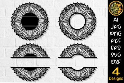 Circular Monogram SVG Cut File Set-3
