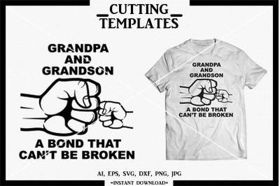 Grandpa and Grandson SVG, Silhouette, Cricut, Cameo, DXF,PNG