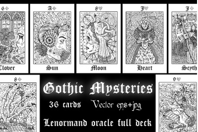 Vector Lenormand deck oracle