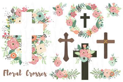 Flower Crosses and Baptism Set