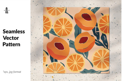 Orange & peach seamless pattern