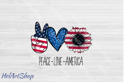 Peace Love America png sublimation, 4th July png