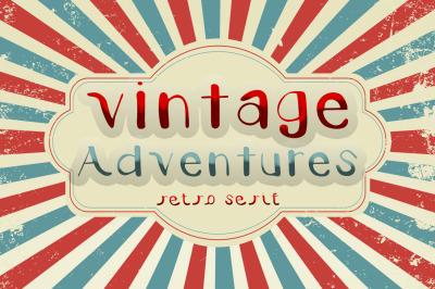 Vintage Adventures - Retro Serif