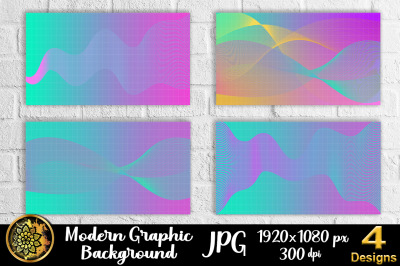 Graphic Design Wave Line Art Background 1