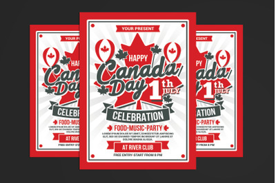 Canada Day Celebration Flyer