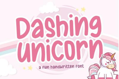 Dashing Unicorn Fun Handwritten Font