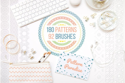 Pattern Paradise Bundle: 180 Patterns + 92 Brushes.