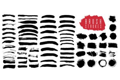 Brush strokes black color