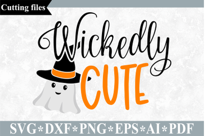 Wickedly Cute SVG, Halloween cut file
