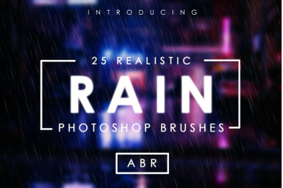 25 Realistic Rain Brushes