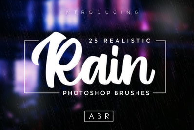 25 Realistic Rain Brushes