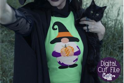 Halloween SVG, Halloween Gnome Svg, Gnome Witch Svg, Pumpkin