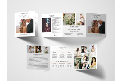 Photography Tri Fold Brochure | Photography Pricing Guide