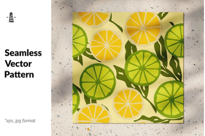 Limes seamless pattern