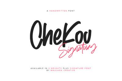 Chekov Handwritten Free Signature Font Typeface