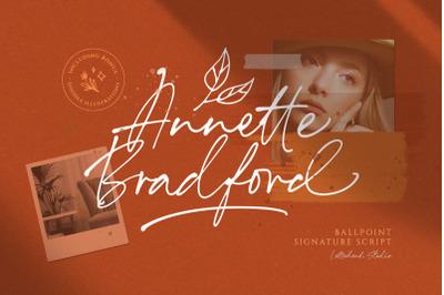 Annette Bradford - Ballpoint Script