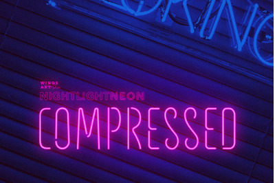 Compressed Neon Font and Graphic Presets