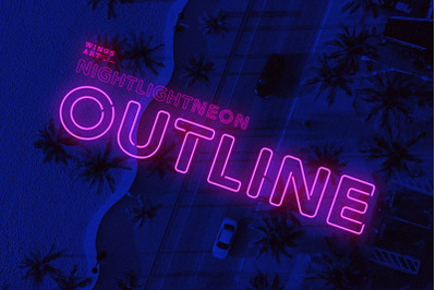 Outline Neon Font and Graphic Presets