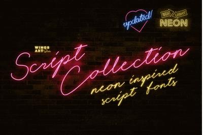 Neon Script Fonts