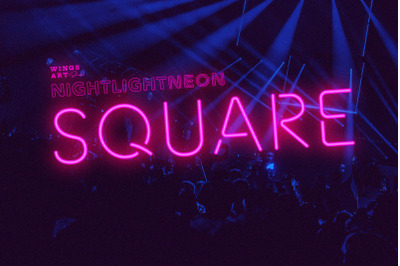 Square Neon Font and Graphic Presets
