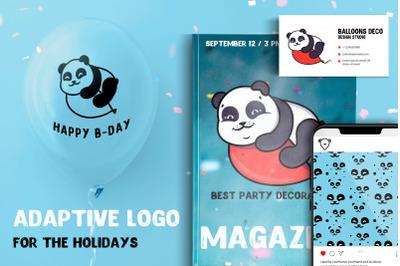 Adaptive logo Happy Holidays