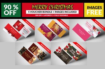 5 Christmas Gift Voucher Bundle