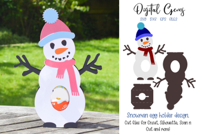 Snowman egg holder design