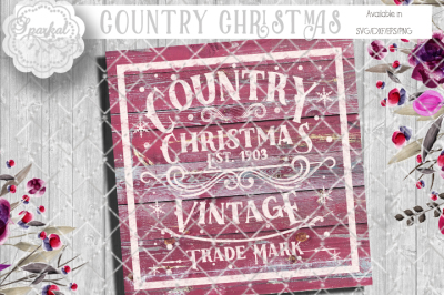 Vintage COUNTRY CHRISTMAS - CUTTING FILE