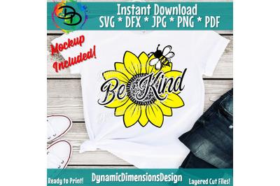 Be Kind svg, sunflower svg, Peace Love SVG, Bee svg, Sunflowers, Flowe