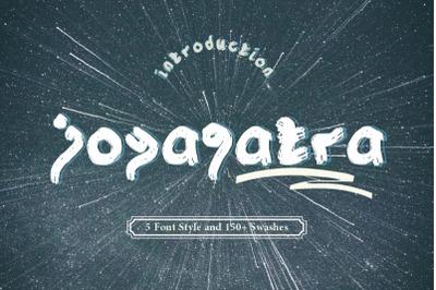 Joyagatra - 5 Font styles and 150+ Swashes