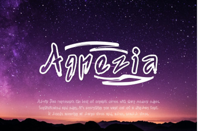 Agnezia - 5 Font styles and 150+ Swashes