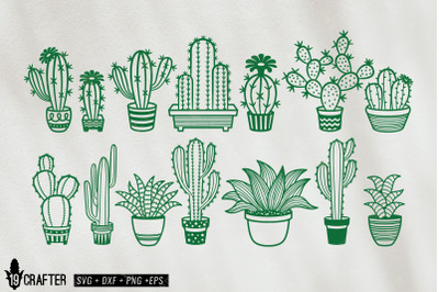 cute cacti cactus and succulent svg bundle