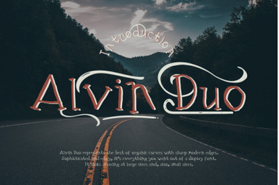 Alvin Duo - 5 Font styles and 150+ Swashes