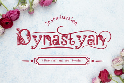 Dynastyan - 5 Font styles and 150+ Swashes