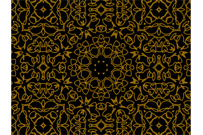 Pattern Gold Luxury Motive