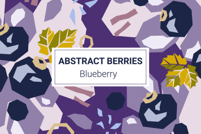Blueberry paper cut style patterns