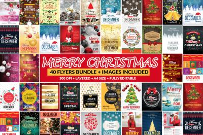 66 Christmas Templates Psd Bundle