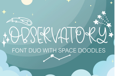 Observatory Font Duo With Space Inspired Doodles