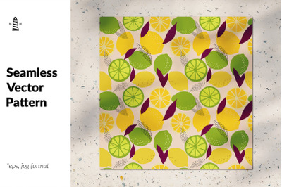Trendy citruses seamless pattern