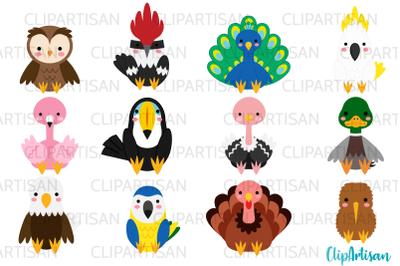 Birds Clip Art, Tropical Birds, Cockatoo, Parrot, Owl