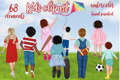 Kids clipart Custom Children clipart Kids Sport Kids playing