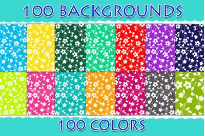 100 Floral Digital Paper