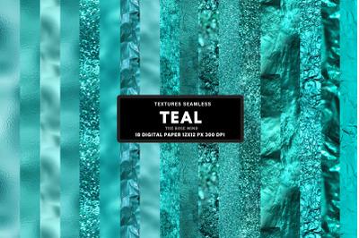Teal seamless textures