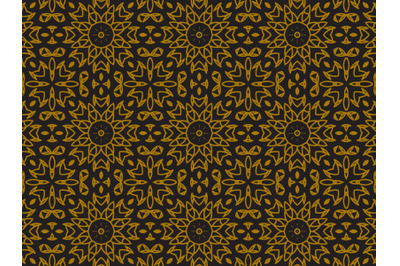 Pattern Gold Ornament Jasmine Flowers