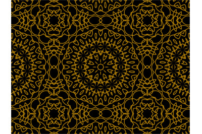 Pattern Gold Motive Luxury Batik