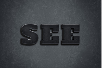 See  3D Text Style Effect PSD