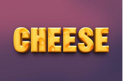 Cheese 3D Text Effect PSD